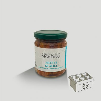 Vasetto da 200gr di Filetti di Alici