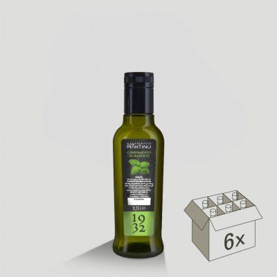 Bottiglia da 250ml di Olio Extravergine di Oliva al Basilico