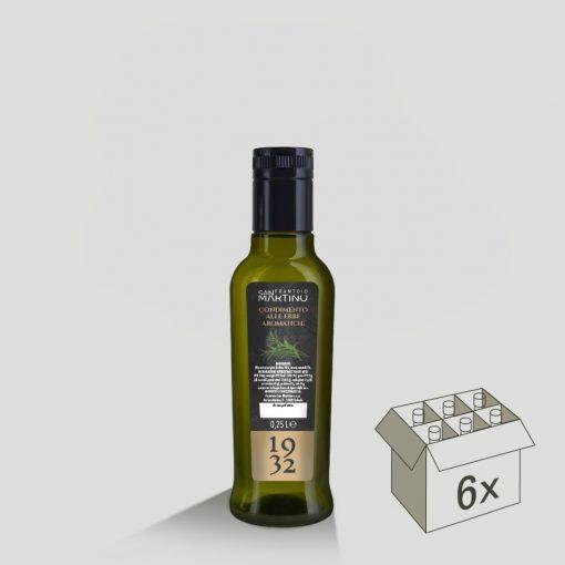 Bottiglia da 250ml di Olio Extravergine di Oliva alle Erbe