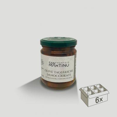 Vasetto da 180gr di Olive Taggiasche Denocciolate